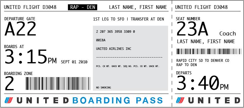 La tarjeta de embarque es un billete?