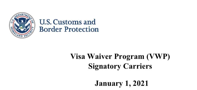 Con fecha 1 de Enero de 2021 el departamento de Customs and Border Protection (CBP) ha emitido un comunicado en el que se recuerda la obligatoriedad de todas las líneas aéreas que transporten viajeros con ESTA aprobado a los Estados Unidos, tener firmado el acuerdo actualizado del Visa Waiver Program para poder facilitar la llegada […]